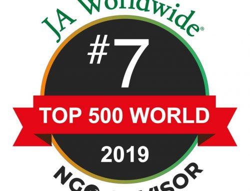 JA Worldwide #7 in Top 500 World NGO Advisor
